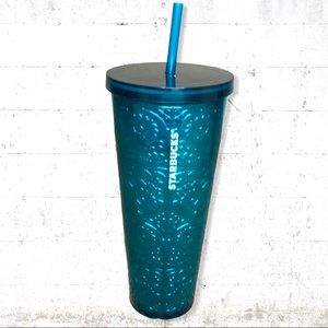 Starbucks Teal Foil Embossed Tumbler